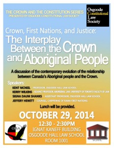 interplay between the crown and aboriginal people poster